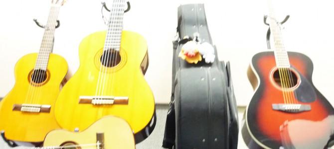 明日はギター合奏練習のため教室が貸しきりになります