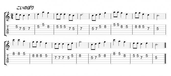 ギターワンポイント講座『こいのぼりとメジャーペンタトニックスケール』